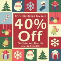 Christmas Mega Toy Sale 40% Off On Selected Brands [EXPIRED]