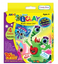 Amos iClay 4 Colours - Glow In The Dark