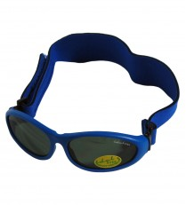 Idol Eyes Baby Wrapz Sunglasses Rubber Frame With Headband - Blue