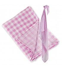 Lulujo Reversible Muslin Swaddle - Passion Pink