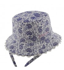 Millymook Baby Girls Bucket Hat - Kaya Blue