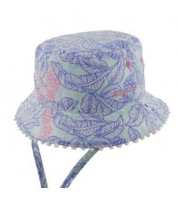 Millymook Girls Bucket Hat - Tropics Blue
