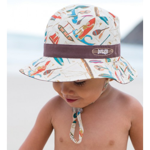 Dozer Baby Boys Bucket Hat - Outrigger Chocolate ea99da09d82