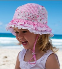 Millymook Baby Girls Bucket Hat - Rah Rah Pink