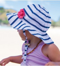 Millymook Baby Girls Bucket Hat - Skipper White/Navy
