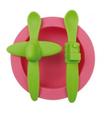 Oogaa Silicone Mealtime Set - Pink