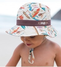 Dozer Baby Boys Bucket Hat - Outrigger Chocolate