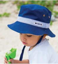 Dozer Baby Boys Bucket Hat - Leo Stripe